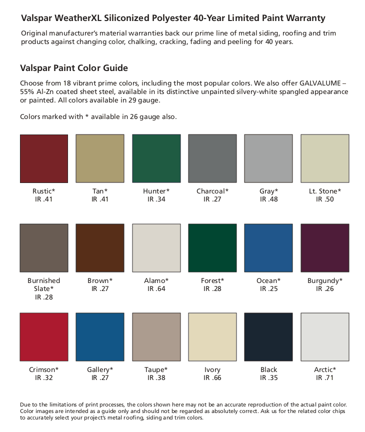 Legacy Barn Paint Guide